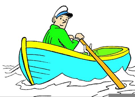 cartoon rowing a boat row row row your boat clipart free images at clker