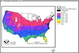 us weather map in february united states yearly monthly daily average temperatures