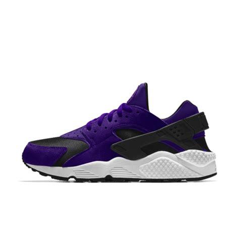 nike air huarache essential id court purple black white shoes