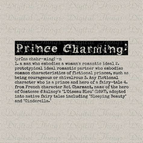 prince charming definition tale word typography