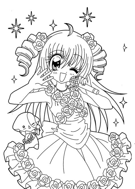 japanese anime coloring sheets coloring pages