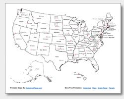 united states map capitals labeled us map outline with state names www pixshark