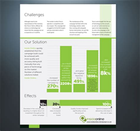 print design job client case study pdf template design