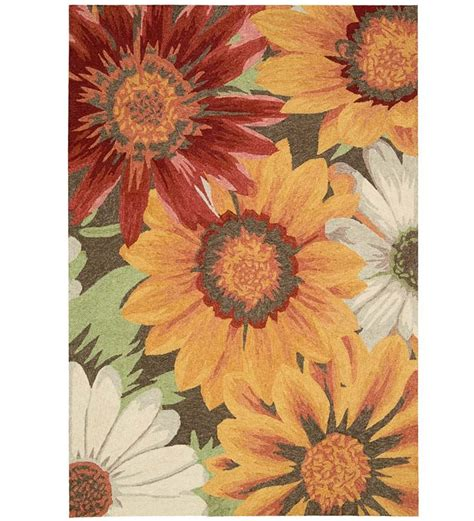 10 X 13 Sunflowers Rug Indoor Outdoor Rugs 10x13 Outdoor Rug