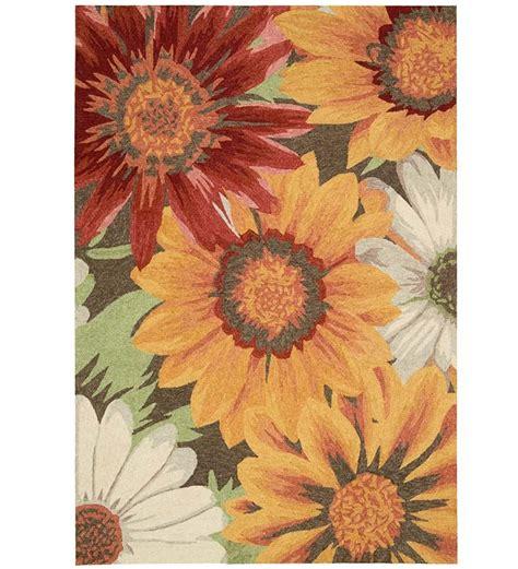 10' x 13' Sunflowers Rug   Indoor/Outdoor Rugs