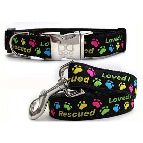 collar and leash set rescue me collar and leash set by baxterboo