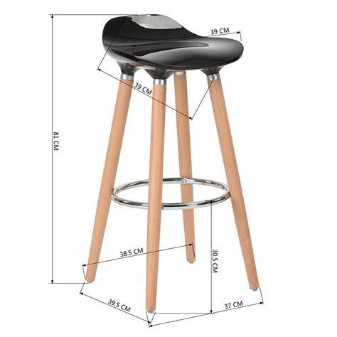 sgabelli alti bar set 2 sgabelli bar alti legno di faggio seduta abs nero