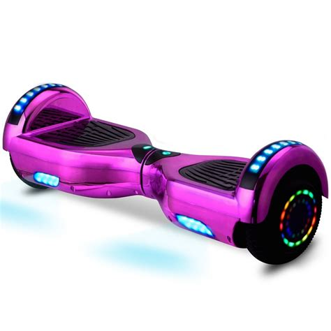 hoverboard bluetooth led lights chrome pink hoverboard led wheel w bluetooth self