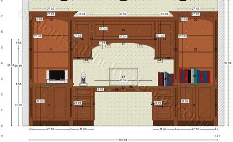 home office design with kitchen cabinets cabinetry floor plan elevations design layouts to build