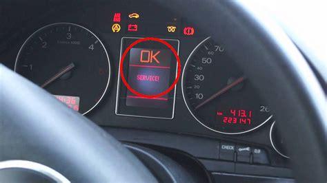 Audi Service Kosten by Audi A4 B6 Service Anzeige Zur 252 Ck Stellen