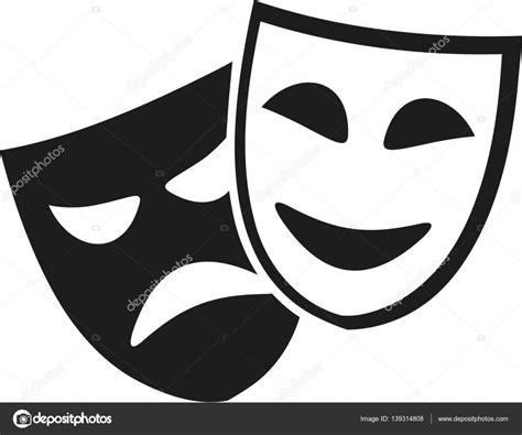 Imagenes En Blanco Y Negro De Teatro | m 225 scaras de teatro negro y blanco vector de stock