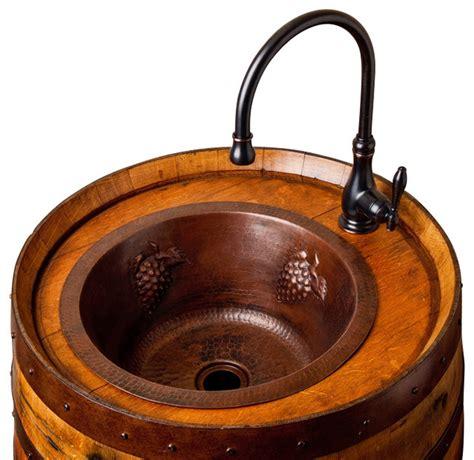 Wine Barrel Sink Vanity by Wine Barrel Bar Sink Rustic Bar Sinks By Alpine Wine