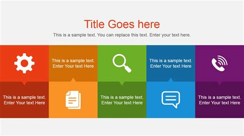 powerpoint slideshow template flat presentation content slide design slidemodel
