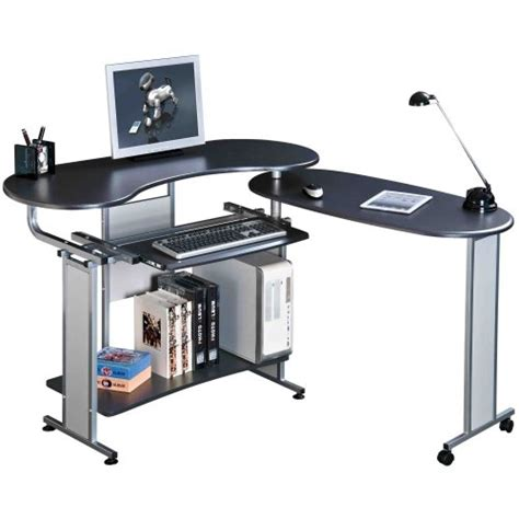 Piranha Pc3g Folding Black Computer Desk With Sliding Folding Office Desk