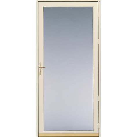 Screen Door Glass Shop Pella White View Safety Fixed Glass Screen