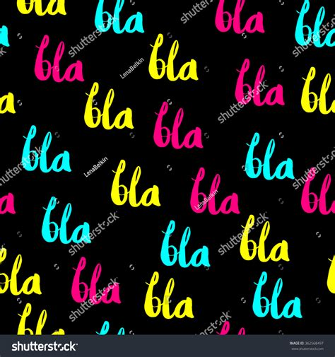 pattern meaning slang bla bla bla seamless pattern slang stock vector 362568497