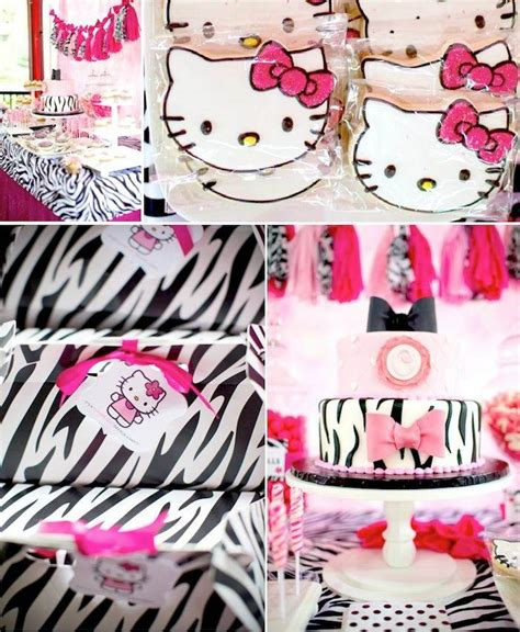 zebra themed birthday party ideas kara s party ideas hello kitty party ideas supplies decor