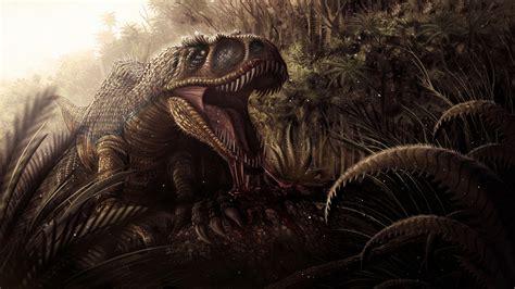jungle dinosaur jaws teeth blood dark fantasy wallpaper