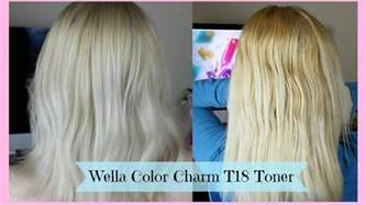 wella color charm t18 toning hair wella color charm t18 toner