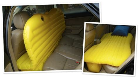 backseat bed shaped air mattress turns your backseat into a bed