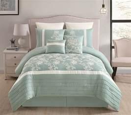 8 comforter set 8 maris aqua comforter set