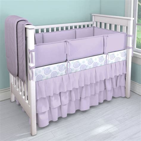 Lilac Crib Bedding Solid Lilac Collection Nursery Idea Customizable Crib Bedding Set Carousel Designs