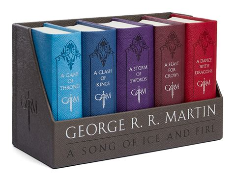 libro cloth lullaby a song of ice and fire cloth bound boxed set thinkgeek