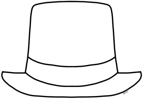 coloring page of a hat top hat coloring page coloring home