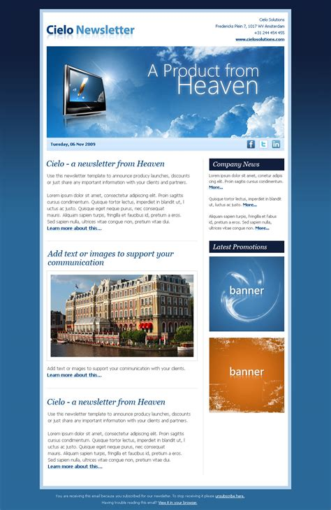 Electronic Newsletter Templates html newsletter templates newsletter template
