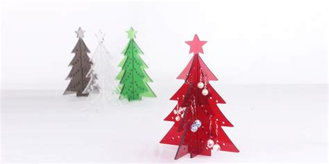 collections of acrylic christmas trees easy diy