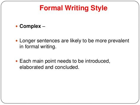 Formal Essay Sle writing business letters style