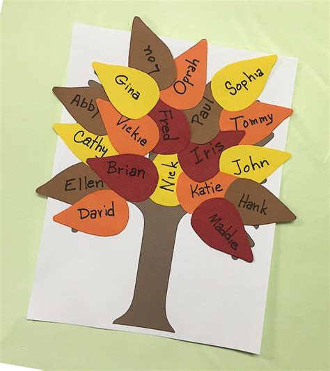 free fall crafts for fall classroom tree family crafts