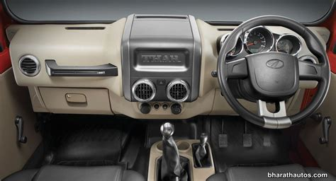 mahindra thar top interior mahindra thar facelift launched in india from rs 8 03 lakh