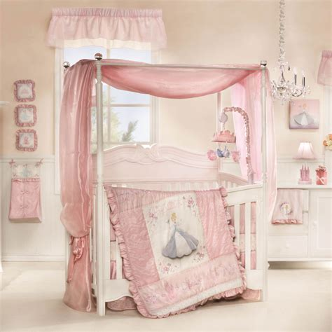 princess baby bedroom cinderella premier 7 piece crib bedding set featuring