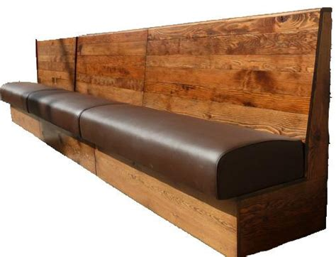 cafe bench wooden back banquette seating bench seating bespoke