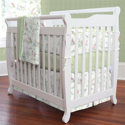 Nursery Rhyme Crib Bedding Nursery Rhyme Toile Sage Portable Crib Bedding Carousel