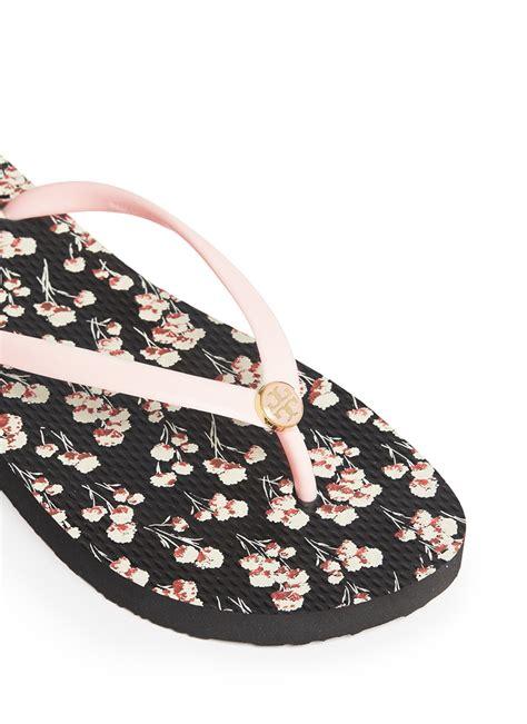 Burch Sandal Sendal Jepit Flip Flop Flower Bunga Original Ori lyst burch thin floral print flip flops in pink