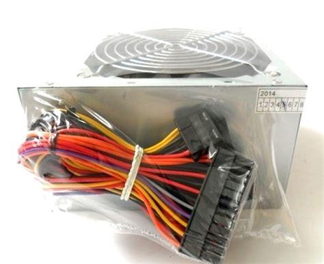 alimentatore pc 500 watt alimentatore pc 500w watt 20 4 pin fan 12cm 3 sata 2 ide