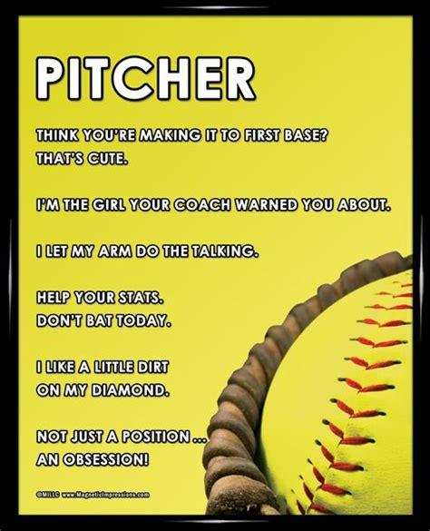 printable softball quotes softball pitcher glove 8x10 sport poster print