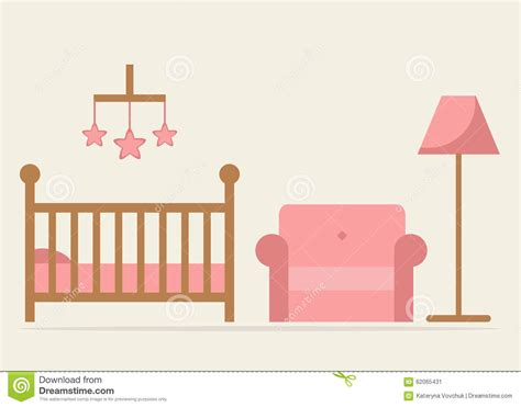 Little House Plans Free baby room interior design crib armchair and lamp in blue