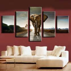 unframed 5pc animal elephant painting canvas modern home
