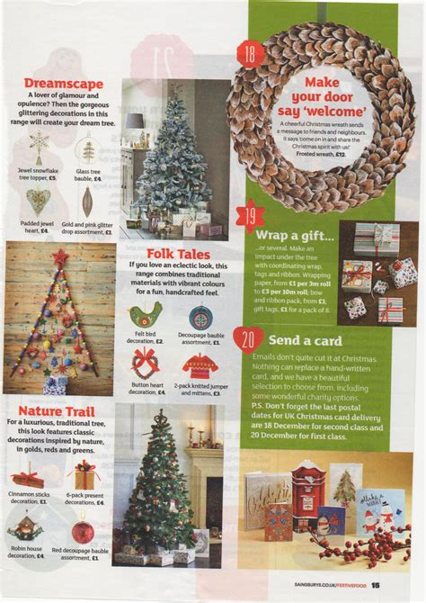 sainsburys decorations sainsbury s magazine 2014 25 day countdown to