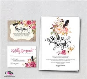 bohemian wedding invitation wording bohemian wedding invitation