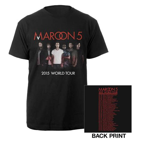 T Shirt Maroon 5 04 T Shirt Maroon 5 05 T Shirt Maroon 5 06 maroon 5 official maroon v world tour
