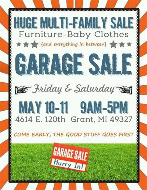 16 best images about garage sale on pinterest cas flyer