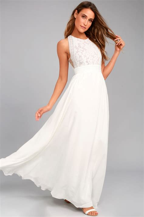 lovely white dress lace dress maxi dress