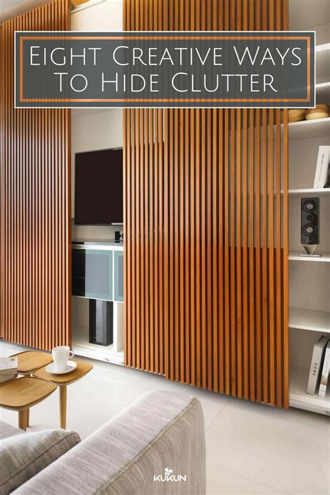 creative ways  hide clutter wall panel design