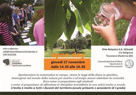 open day pavia open day a toscolano rete orti botanici della lombardia
