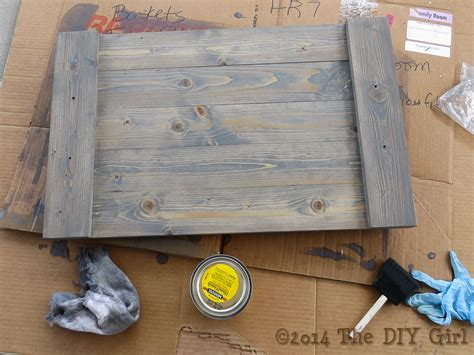 gray weathered wood finish success    diy girl