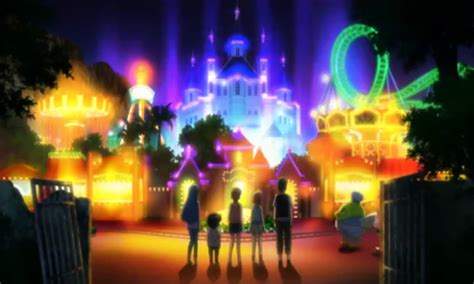 theme park anime kotoura san episode 5 6 sleepover and summer vacation